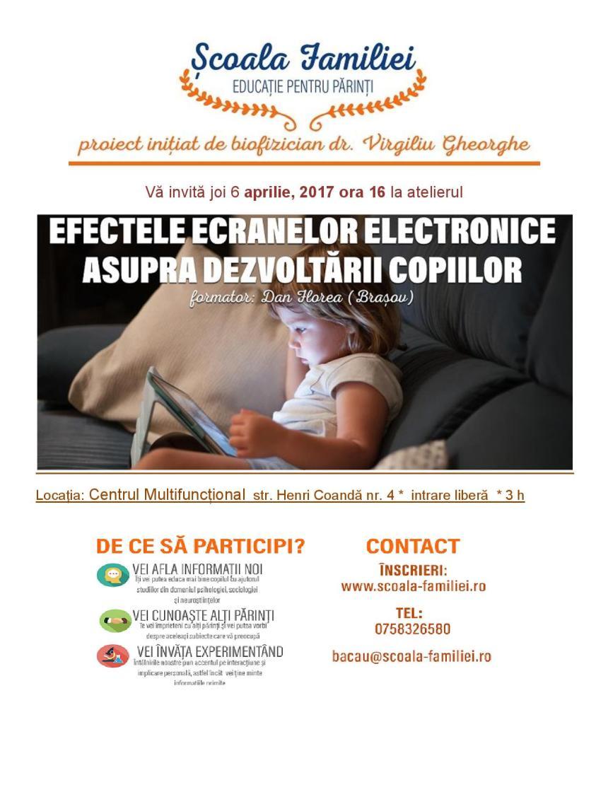 Efectele ecranelor asupra dezvoltării copiilor