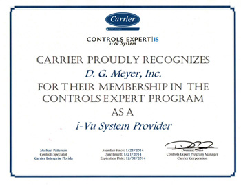 Carrier Controls Expert Certificate