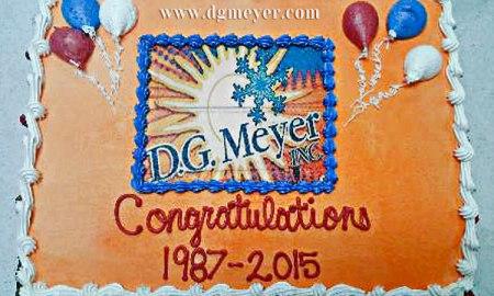 D.G. Meyer Inc. 28th Anniversary Cake