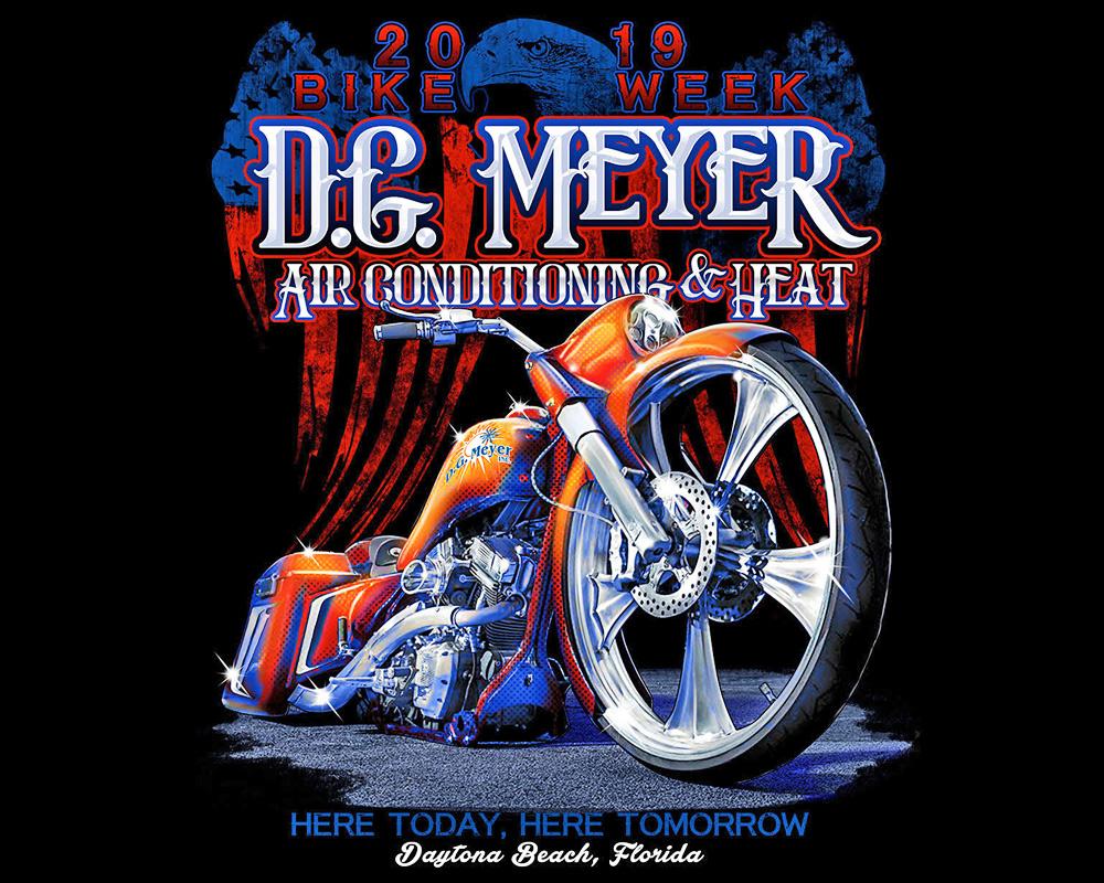 D.G. Meyer 2019 Bike Week Tee Shirt