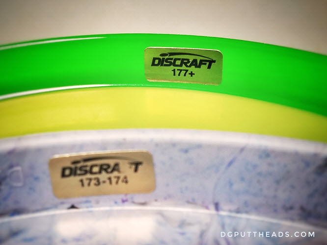 disc golf disc weight