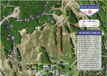 Boyne Mountain Disc Golf map