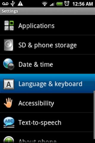 Language and keyboard