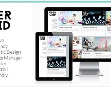 雜誌風網頁設計