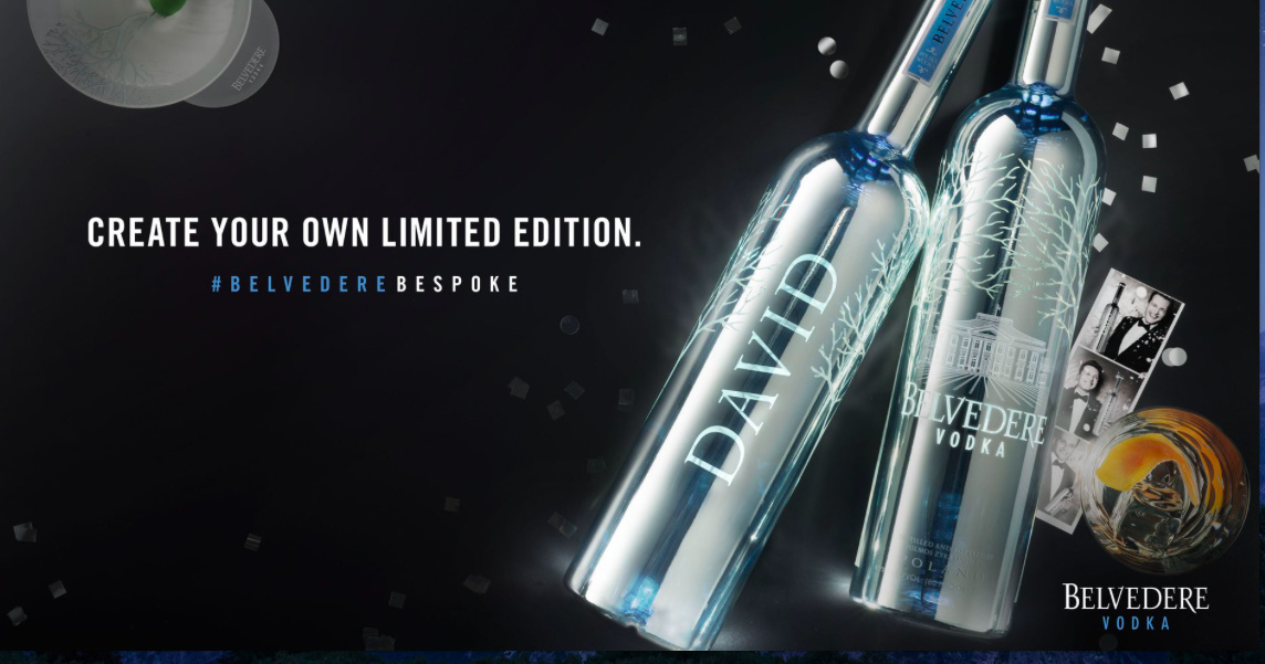 Customize je eigen Belvedere vodka-fles!!