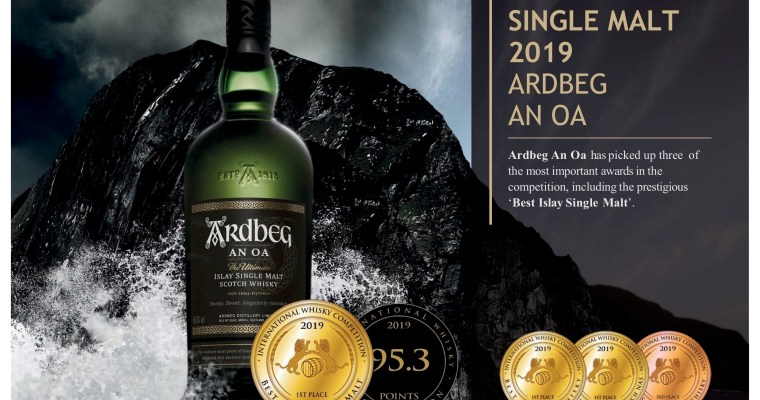 ARDBEG AN OA; BEST ISLAY SINGLE MALT 2019