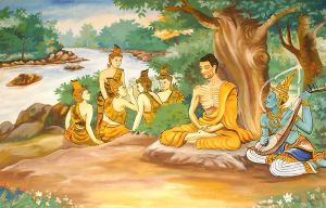 Ascetic Bodhisattva Siddhartha Gautama with the Group of Five