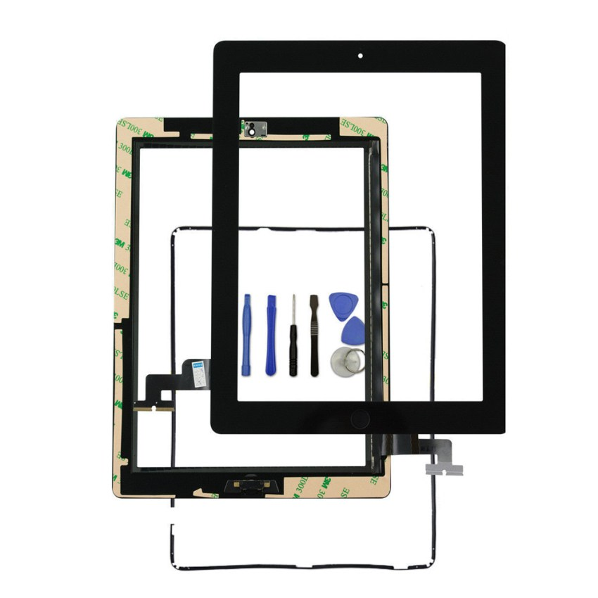 Touch Screen Digitizer with Bezel and Home Button for iPad 2
