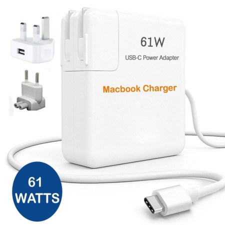 61W Power Adapter Charger For Apple Macbook USB