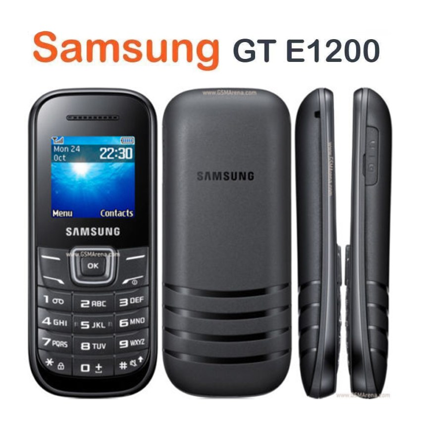 Brand New Samsung GT E1200 Black Unlocked Mobile Phone With WARRANTY