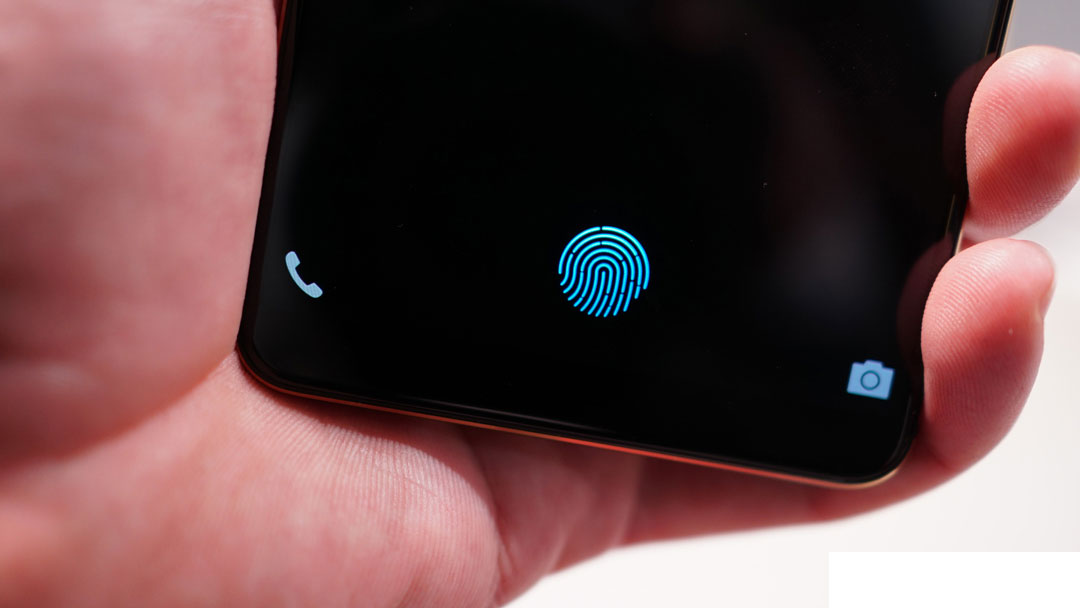 The fingerprint scanner on Samsung Galaxy S10: