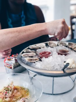Oysters at Clark's Oyster Bar