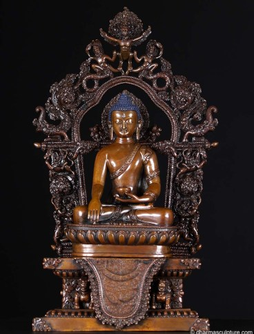amitabha copper statue