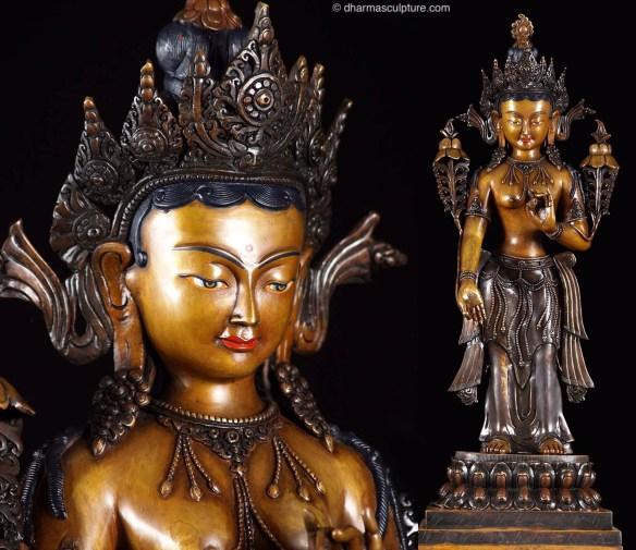 Tara Standing Statue Tibetan Dolma