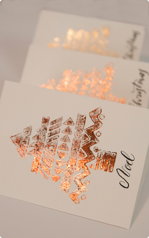 ICraft Gold Leaf Christmas Cards A Mad Mim Tutorial