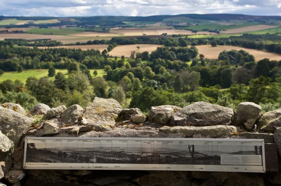 Aussichtspunkt am Craigfall Trail beim Leith Hall & Garden Estate