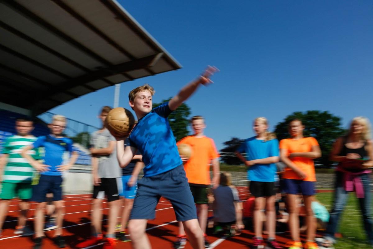 Sommer-Sportfest des Gymnasiums am Wall im Stadion Verden