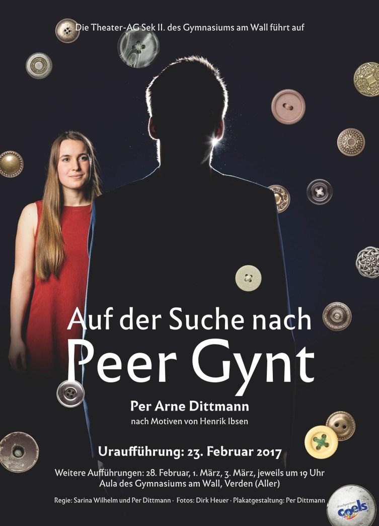 """Theaterplakat """"Auf der Suche nach Peer Gynt"""""""