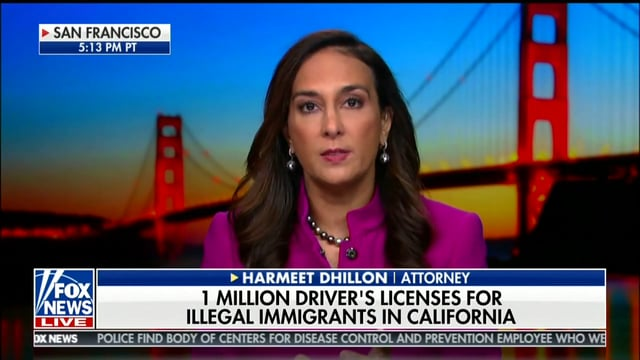 Harmeet Dhillon Live on FOX News, Illegal Immigrants in California - Dhillon Law Group
