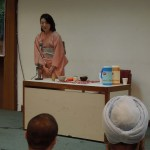 Japanese Tea Ceremony demonstration by Prof. Dr. Miwako Hosoda, Vice-President, Seisa University