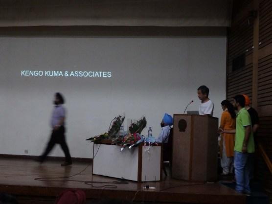 Prof. Kengo Kuma's presentation