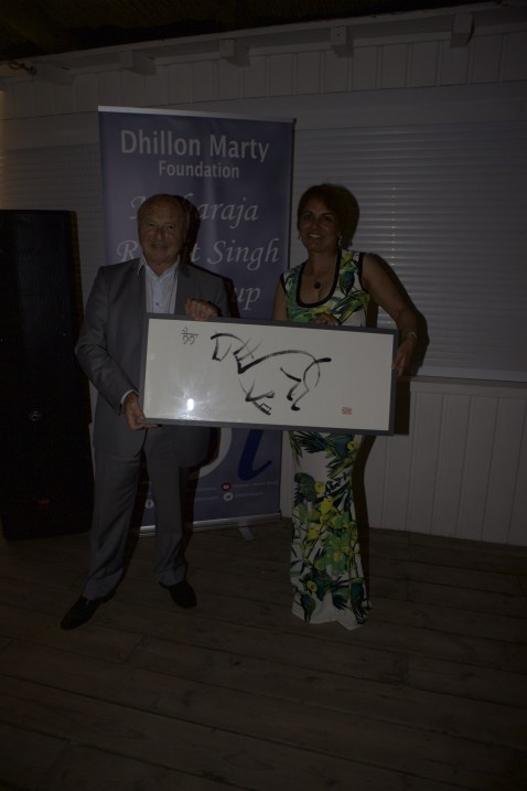 Calligraph of Laila, Maharaja Ranjit Singh's beloved horse presented to Jean-Pierre Tuveri, Mayor of Saint Tropez, France