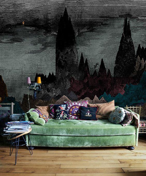 Il sofà verde