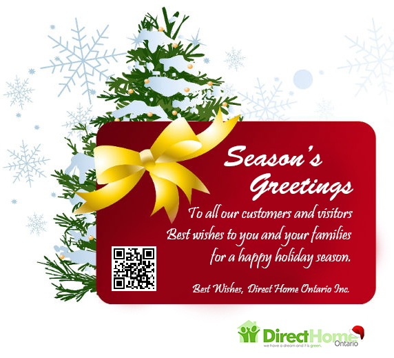 Seasons Greetings From DeMark Home Ontario To All Our