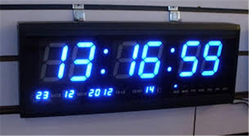 Acheter Ht4819sm 8 Livraison Gratuite Aluminium Grande Horloge Murale Led Numerique Design Moderne De Grande Montre Horloge Numerique Calendrier Electronique De 26 5 Du Jimzhang4 Dhgate Com