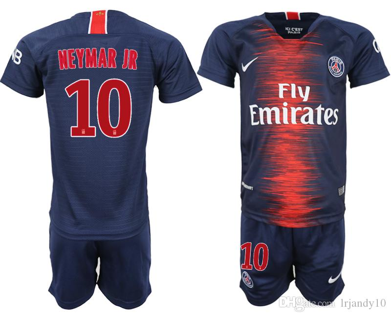grosshandel psg kid fussball trikot 2019 paris mbappe neymar jr saint germain trikot 18 19 t shirt fussball kit champions shirt kinder von lrjandy10