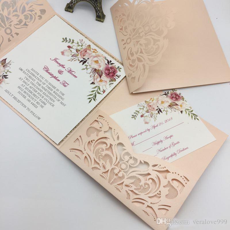 acheter nouveau style unique decoupe au laser cartes dinvitation de mariage de haute qualite personnalise carte dinvitation de mariage fleur creuse