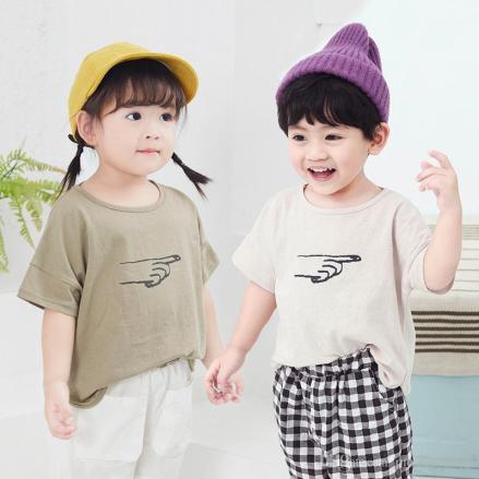 2020 Summer Baby T Shirt Korean Toddler Kids Girls Boys Outfits ...