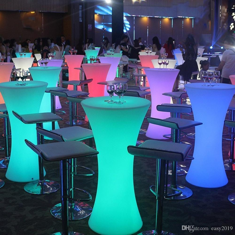 acheter 2019 nouveau led lumineux cocktail tabl ronde de haut bar pied de table pour night club cafe creative meubles eclairage de 115 35 du