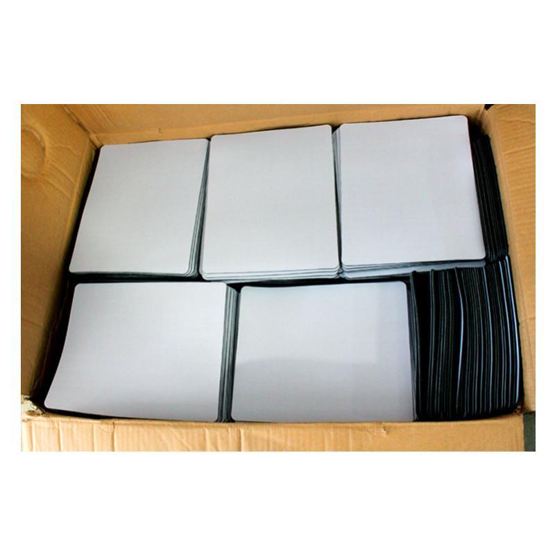 acheter usine blanc sublimation gros tapis de souris chaleur impression par transfert thermique tapis de souris en caoutchouc personnalise peut diy