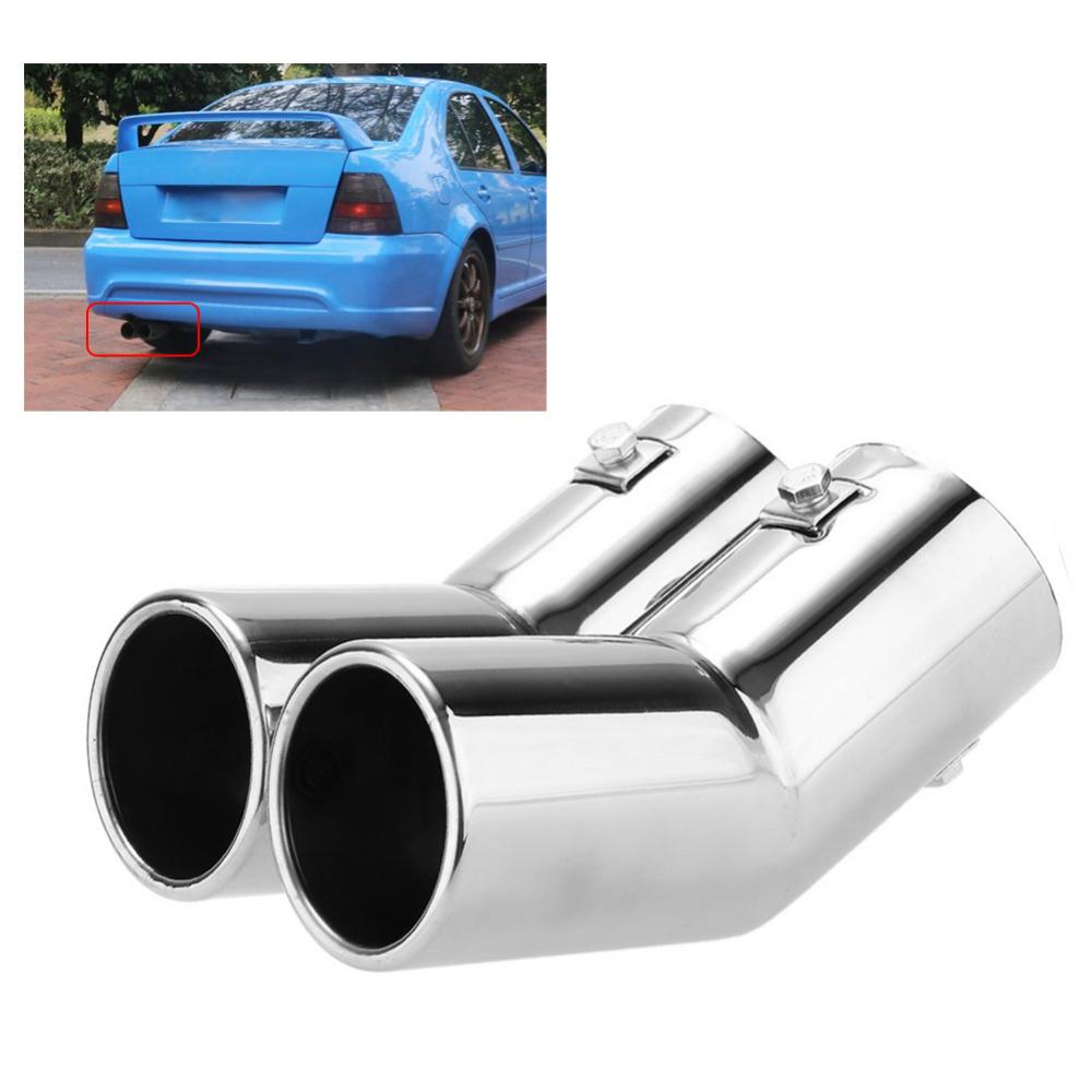 2021 car styling dual exhaust tail