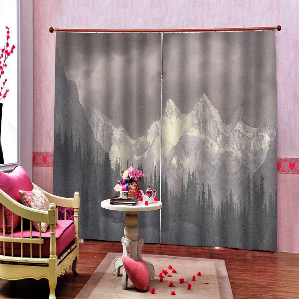 2019 Snow Mountain Landscape Curtain Fashion Beautiful Clound Fog Fantasy Blackout Window Curtains For Living Room Bedroom From A1048874333 137 69