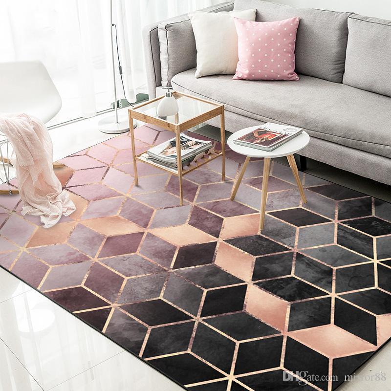 acheter nordic minimaliste tapis motif geometrique salon table basse table a coucher chambre a coucher tapis enfants crawling mat accueil tapis de