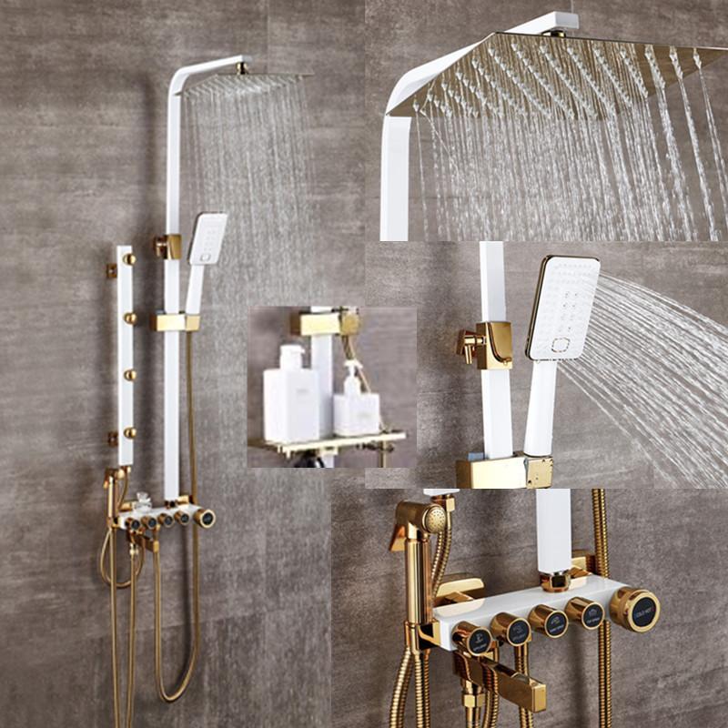 2021 bathroom luxury white golden