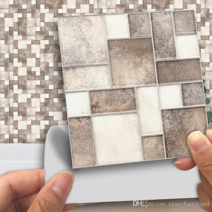 tile stickers 10 10cm square stitching
