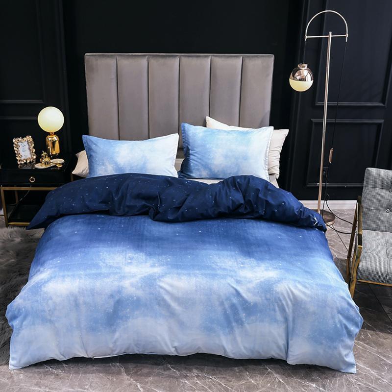 blue duvet set quilt cover bedding set