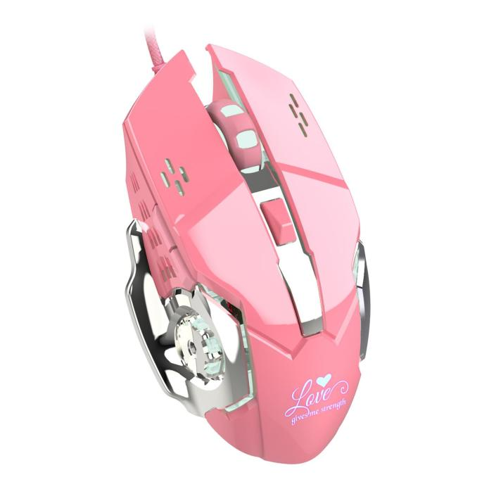 2021 Yoteen Pink Girls Gaming Mouse 3200dpi Led Light 4 Speed Dpi Switching Ergonomics Computer Cute Mouse Lover Girlfriend Gift From Monkotech 4 83 Dhgate Com