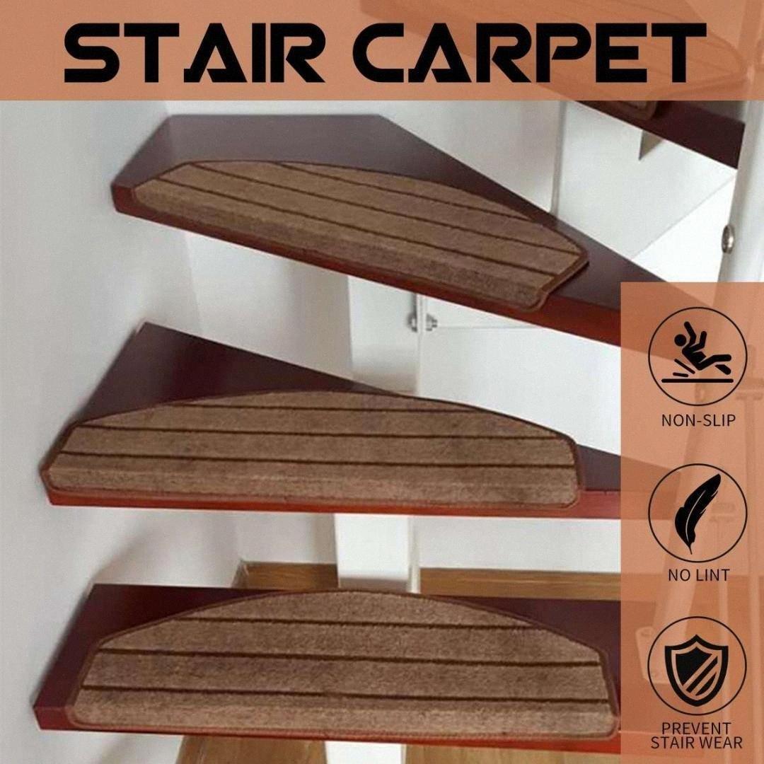 Fashion Stair Carpet Sets Slip Resistance Stair Tread Mats Step   Mohawk Carpet Stair Treads   Mohawk Home   True Bullnose   Stair Railing   Basement Stairs   Non Slip