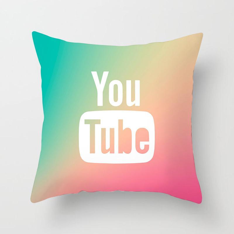customized rainbow mint throw pillow