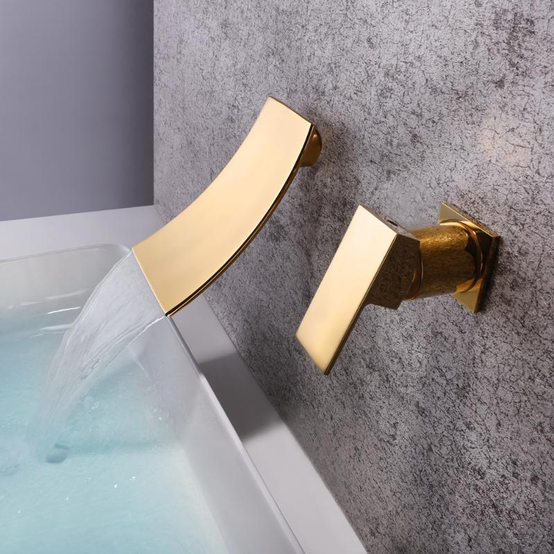 2021 brushed gold waterfull water tap