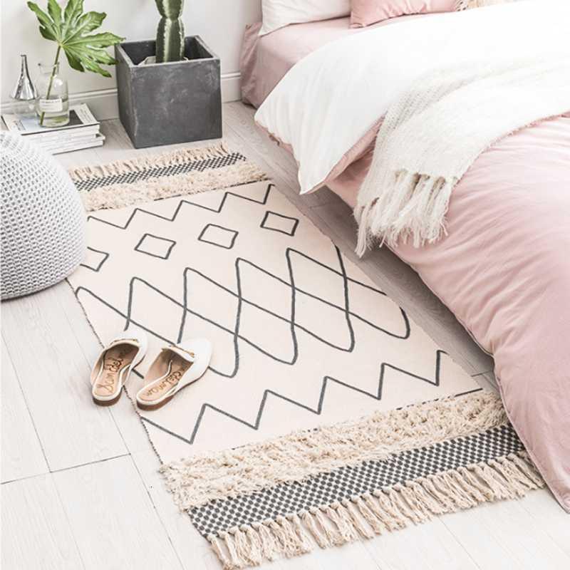 acheter impression tissee main coton tapis capitonne tassel zone throw tapis lavable a la machine tapis de bain paillasson felt de 54 23 du copoti
