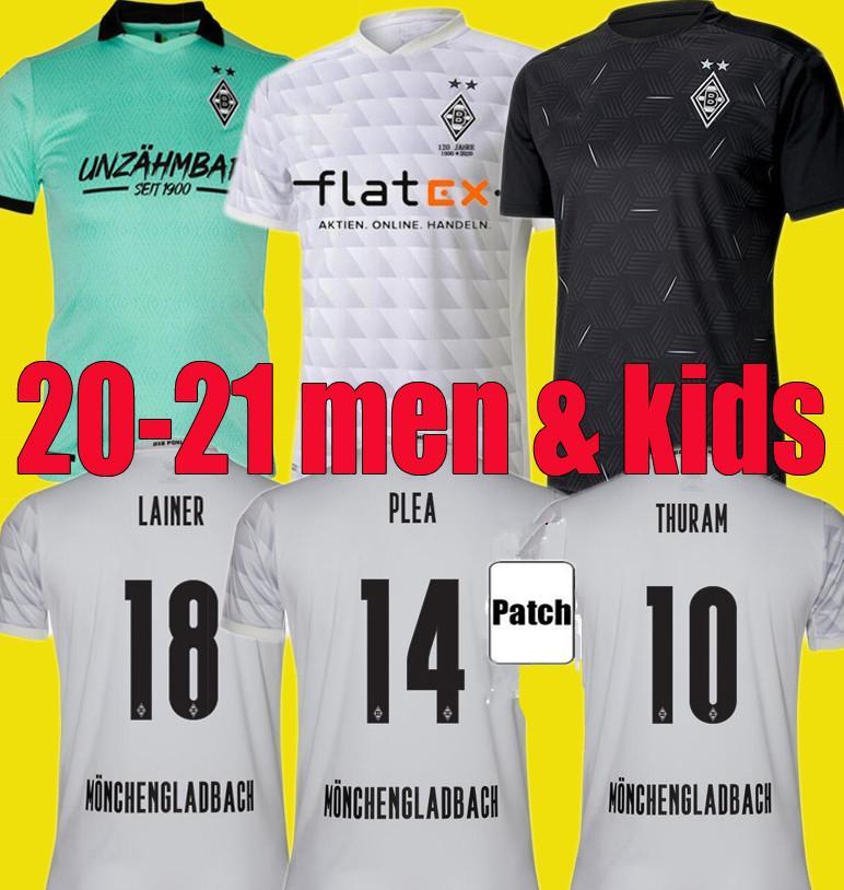 grosshandel neue borussia 2020 2021 monchengladbach fussball jersey manner kinder kits gladbach monchengladbach trikots 20 21 zakaria plea thuram
