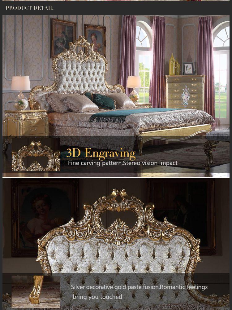 acheter lit de luxe italien mobilier de chambre a coucher antique mobilier sculpte en bois massif dore a la feuille dor de 3 168 69 du fpfurniturecn