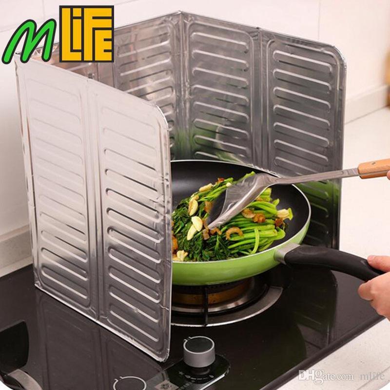 acheter ecrans declaboussure dhuile de poele a gaz de plat de feuille daluminium de cuisine de 1 51 du mlife dhgate com