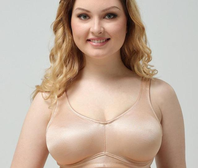 2019 High Quality Full Cup Wireless Satin Bra For Big Fat Women Saxy Photos Hot Wire Free Intimates Underwear Satin Minimizer Bra From Hclhmx