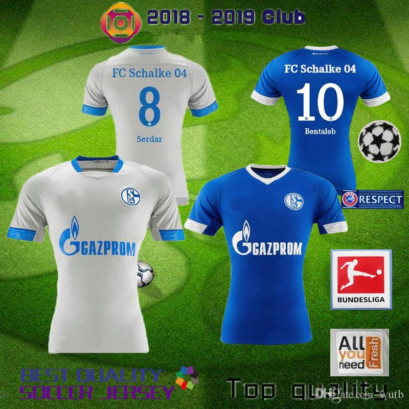 Grosshandel Schalke 04 2018 2019 Fc Fussball Trikot 19 Burgstaller 7 Uth 6 Mascarell Harit Serdar Sane Heimtrikot 18 19 Fussball Trikot Von Wutb 12 41 Auf De Dhgate Com Dhgate